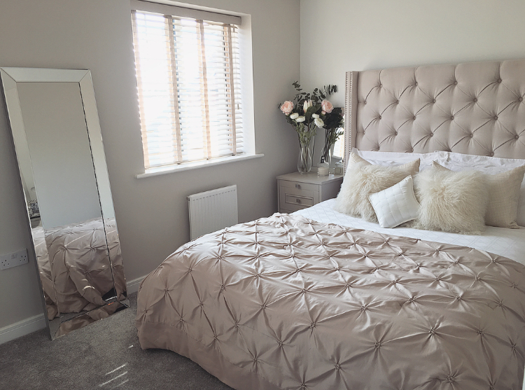 new build, master bedroom, interior design ideas, home blogger, interior designer, bedroom inso